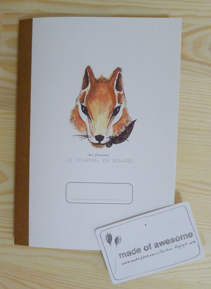 Foxy journal from made of awesome