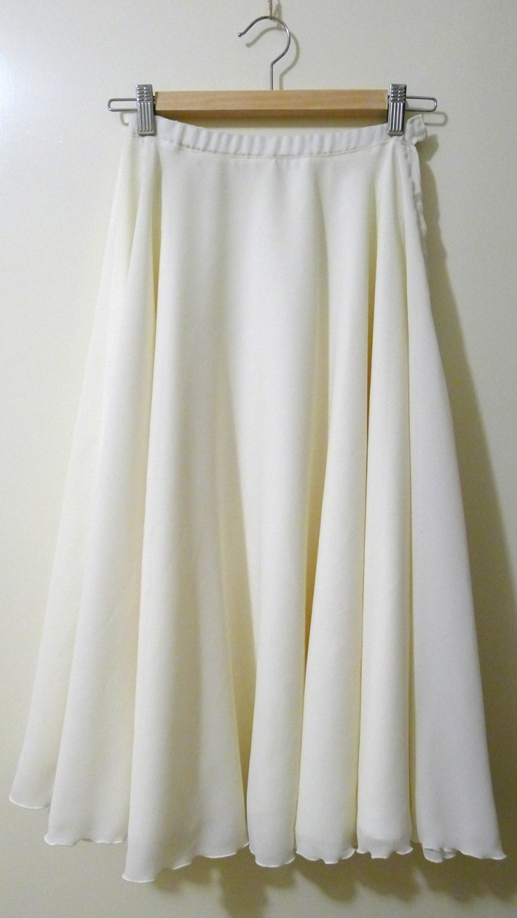 Long white skirt from Anglicare Fremantle