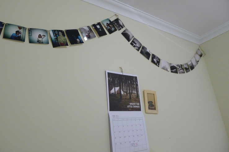 diy photo bunting - complete