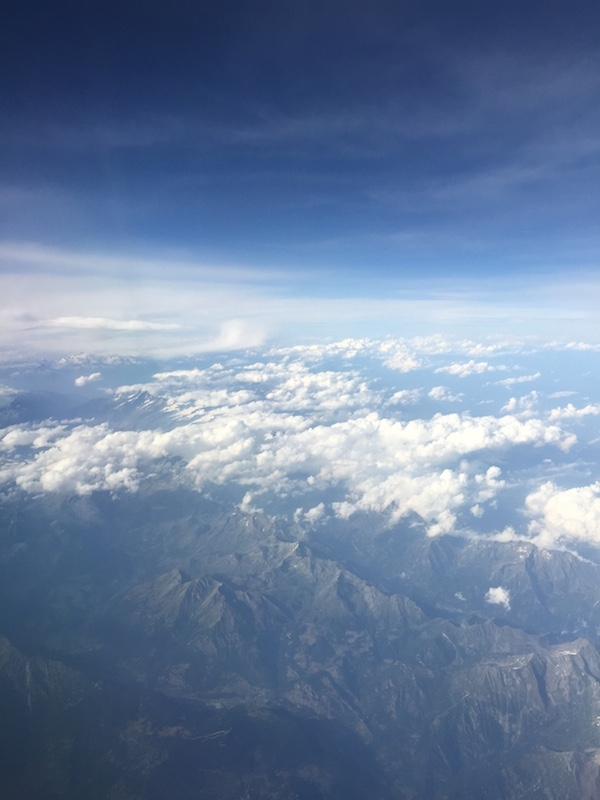 Over the Alps, goodbye Italy